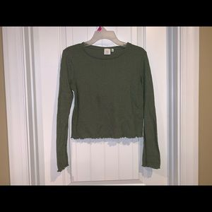 Good luck gem size small thermal  crop top